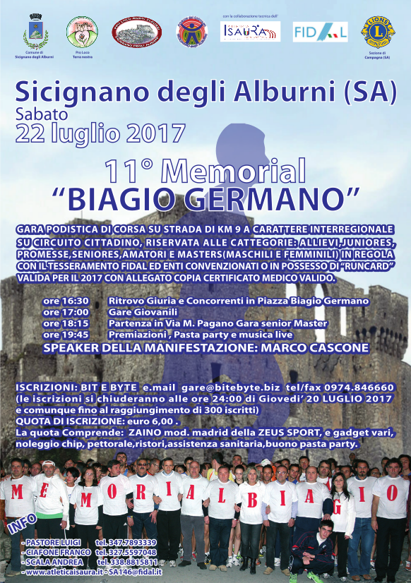 11° Memorial Biagio Germano