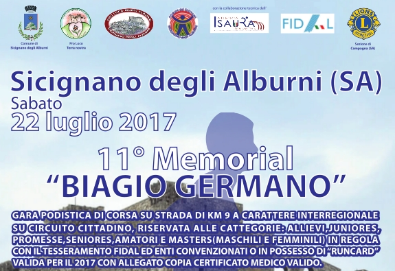 11 Memorial Biagio Germano